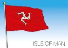 Isla de la bandera del hombre, Reino Unido Imagenes de archivo