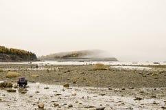 Isla de la barra en el puerto de la barra, Maine Foto de archivo