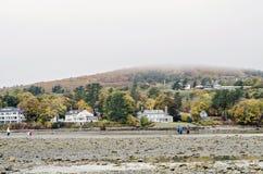 Isla de la barra en el puerto de la barra, Maine Fotografía de archivo libre de regalías