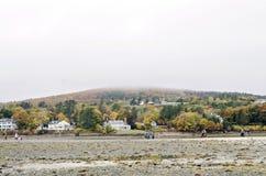 Isla de la barra en el puerto de la barra, Maine Imagen de archivo libre de regalías