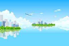 Isla de la ciudad del asunto libre illustration