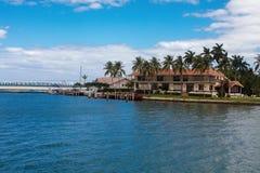 Isla de la estrella en la ciudad de Miami Fotos de archivo