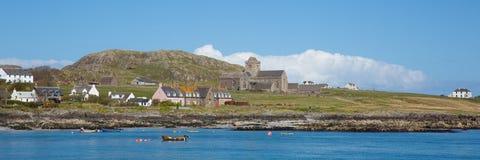 Isla de la isla escocesa interna británica de Iona Scotland Hebrides de la costa del panorama del oeste Mull Escocia Fotografía de archivo