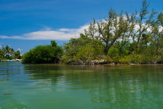 Isla de la laguna de Cancun Imágenes de archivo libres de regalías