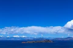 Isla de la Luna dans le Lac Titicaca, Bolivie Photos stock