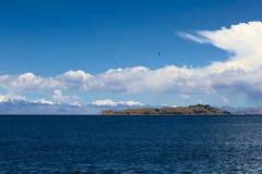 Isla de la Luna sjö Titicaca, Bolivia Arkivfoto
