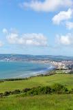 Isla de la opinión de la costa del Wight hacia Shanklin y Sandown Foto de archivo libre de regalías