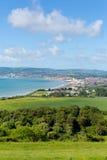 Isla de la opinión de la costa del Wight hacia Shanklin y Sandown Fotografía de archivo libre de regalías