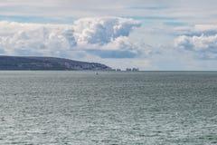 Isla de la opinión del Wight imagen de archivo