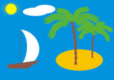 Isla de la palmera Fotos de archivo