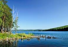Isla de la playa en la fe Turgoyak del St del lago Fotografía de archivo libre de regalías