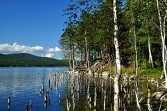 Isla de la playa en la fe Turgoyak del St del lago Fotos de archivo