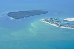 Isla de la visión aérea Fotografía de archivo