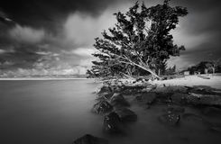 Isla de Labuan de la puesta del sol Imagen de archivo