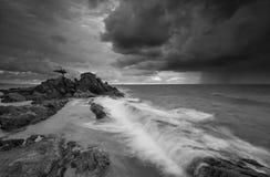 Isla de Labuan de la puesta del sol Foto de archivo libre de regalías