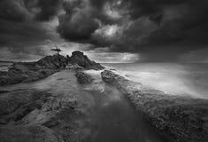 Isla de Labuan de la puesta del sol Fotos de archivo
