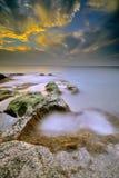 Isla de Labuan de la salida del sol Foto de archivo libre de regalías