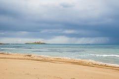 Isla de las corrientes Portopalo Sicilia Foto de archivo