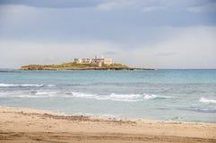 Isla de las corrientes Portopalo Sicilia Fotos de archivo