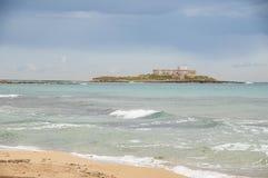 Isla de las corrientes Portopalo Sicilia Foto de archivo libre de regalías