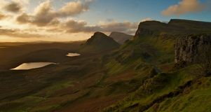Isla de las montañas de Skye Imágenes de archivo libres de regalías