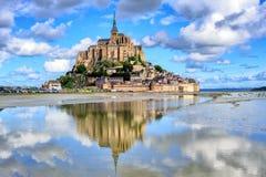 Isla de Le Mont-Santo-Miguel, Normandía, Francia foto de archivo libre de regalías