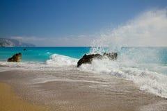 Isla de Lefkada, Grecia Fotografía de archivo libre de regalías