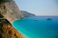 Isla de Lefkada, Grecia Fotografía de archivo