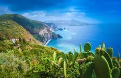Isla de Lipari, Italia imagen de archivo