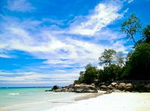 Isla de Lipe, Satun, Tailandia Foto de archivo