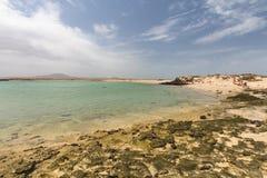 Isla de Lobos Beach, Fuerteventura, Spain. The Isla de Lobos in Fuerteventura, Spain with the Playa de la Concha Stock Image