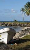 Isla de maíz grande de North End de los barcos del Panga Nicaragua Foto de archivo libre de regalías