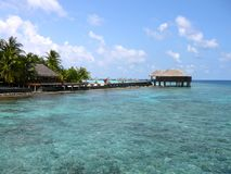 Isla de Maafushivaru - Maldivas imagen de archivo