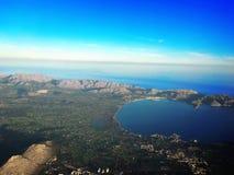 Isla de Majorca, opinión del cielo de Majorca, opinión del majorca, España, Europa Foto de archivo libre de regalías