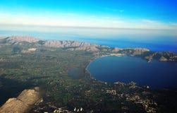 Isla de Majorca, opinión del cielo de Majorca, opinión del majorca, Palma Majorca Spain, Europa Fotos de archivo
