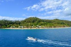 Isla de Malolo, Mamanucas, Fiji imagenes de archivo