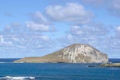 Isla de Manana situada en el lado de barlovento de O& x27; ahu Imagen de archivo