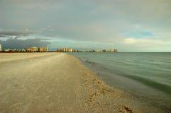 Isla de Marco antes de la puesta del sol Imagen de archivo libre de regalías