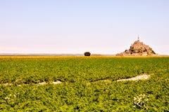 Isla de marea Normandía Francia septentrional del Le Mont Saint-Michel Fotografía de archivo