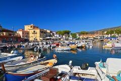 Isla de Marina di Campo - de Elba Foto de archivo libre de regalías