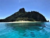 Isla de Matamanoa de las Islas Fiji fotografía de archivo libre de regalías