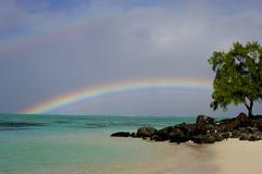Isla de Mauritius Rainbow Imágenes de archivo libres de regalías
