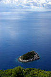 Isla de Mljet antes de la isla 06 del thr fotografía de archivo