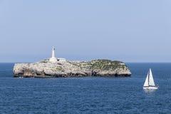 Isla de Mouro,坎塔布里亚,西班牙 免版税库存照片
