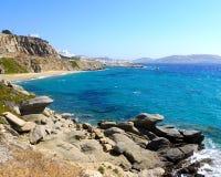 Isla de Mykonos Imágenes de archivo libres de regalías