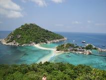 Isla de NangYuan de la KOH Foto de archivo