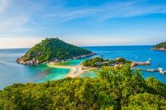 Isla de Nangyuan tailandesa Fotos de archivo