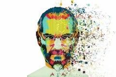 Isla de Navidad, Australia, el 8 de agosto de 2017: un ejemplo en el estilo del arte bajo la forma de mosaico Steve Jobs Fotos de archivo libres de regalías