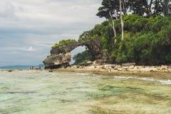 Isla de Neil en el archipiélago de Andaman y de Nicobar, foto de archivo libre de regalías