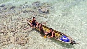 ISLA de OMADA, MALASIA 23 de septiembre: Mar no identificado Bajau ch fotografía de archivo